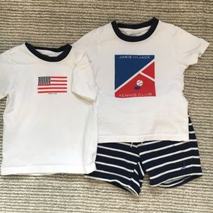Janie & Jack T's + Shorts Toddler Boy
